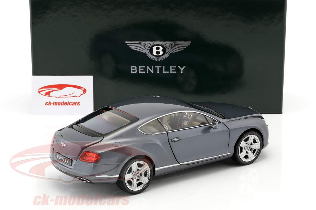 Bentley Continental GT Thunder Year 2011 blue-gray metallic 1:18 Minichamps