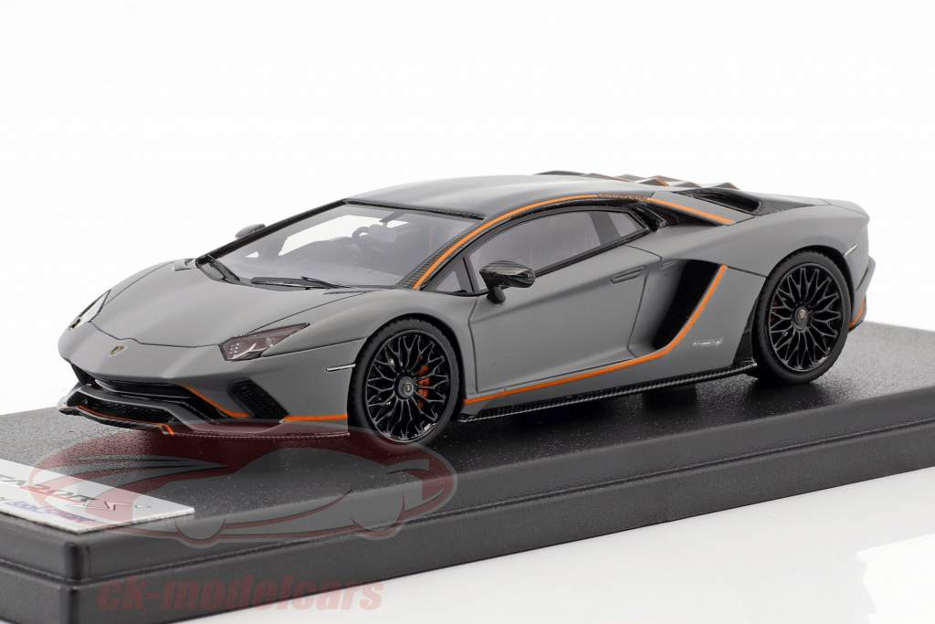 Lamborghini Aventador S year 2017 matt grey / orange 1:43 LookSmart
