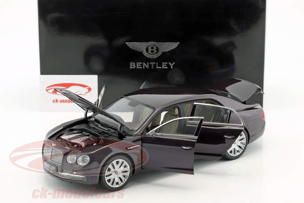 Bentley Flying Spur Damson W12 dark purple metallic 1:18 Kyosho