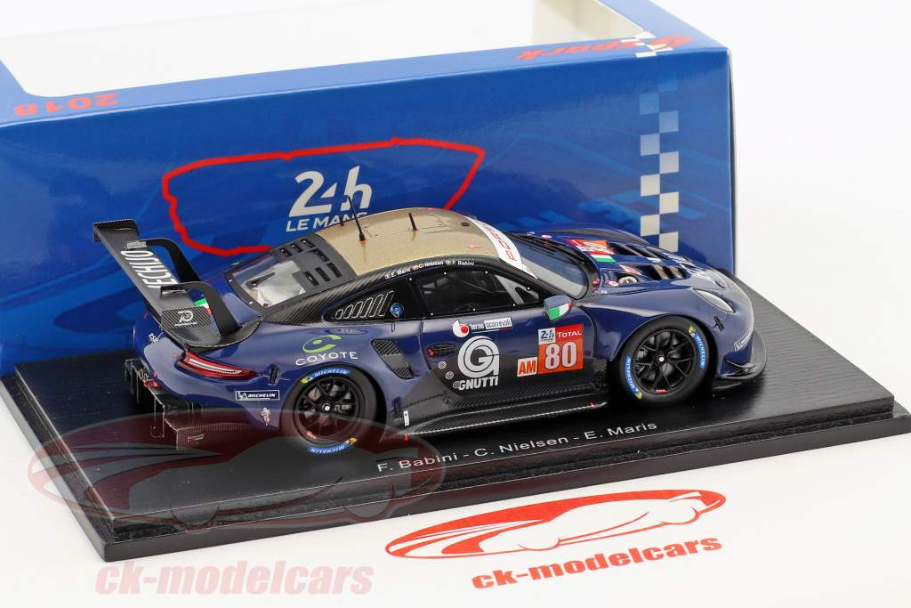 Porsche 911 RSR #80 24h LeMans 2018 Babini, Nielsen, Maris 1:43 Spark