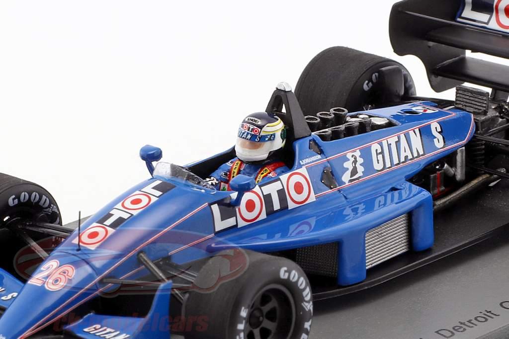 Stefan Johansson Ligier JS31 #26 USA GP formule 1 1988 1:43 Spark