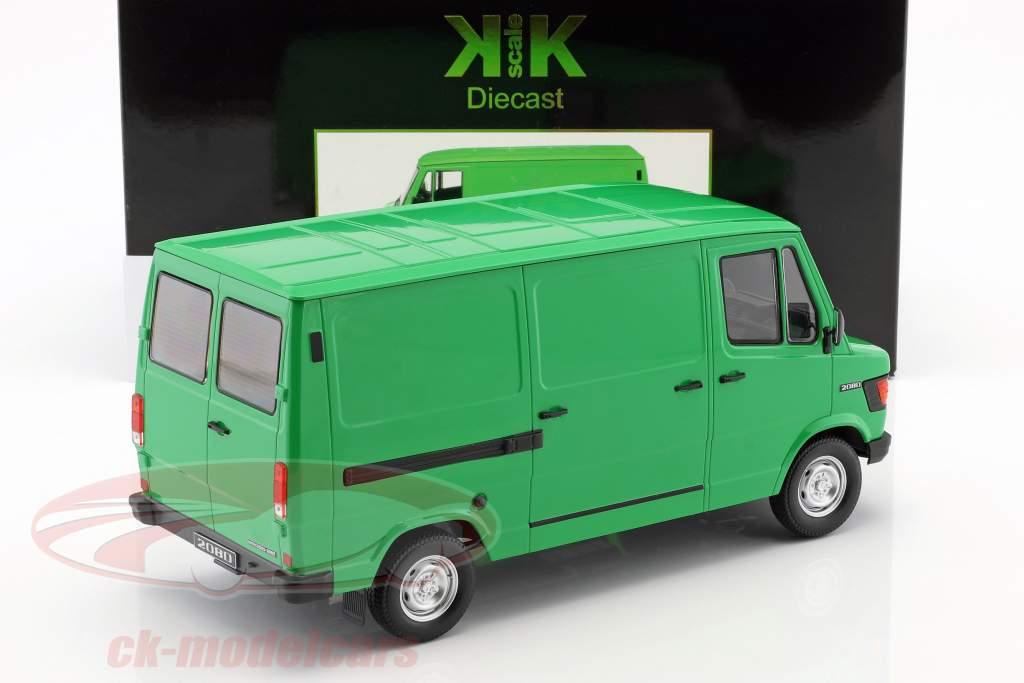 Mercedes-Benz 208 D van ano de construção 1988 verde 1:18 KK-Scale