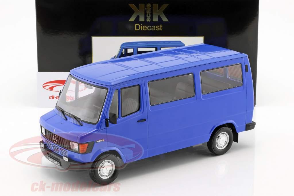 Mercedes-Benz 208 D Bus Opførselsår 1988 blå 1:18 KK-Scale