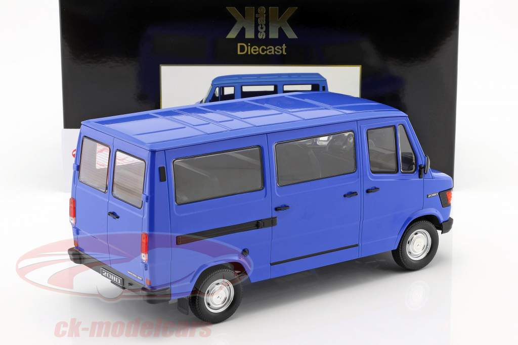 Mercedes-Benz 208 D Bus year 1988 blue 1:18 KK-Scale