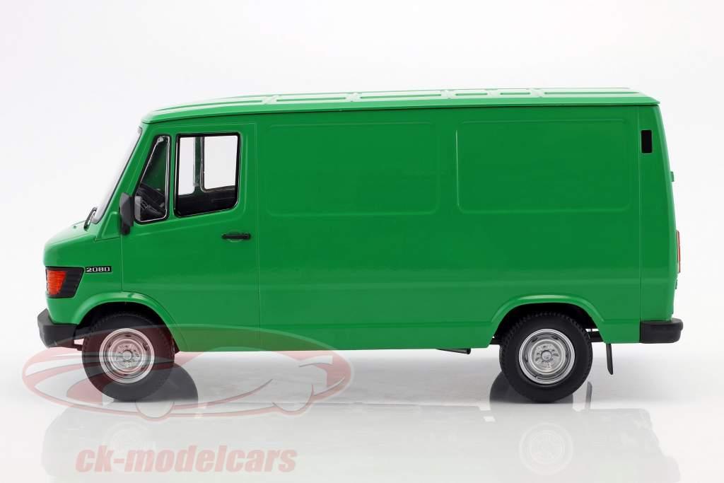 Mercedes-Benz 208 D furgone anno di costruzione 1988 verde 1:18 KK-Scale