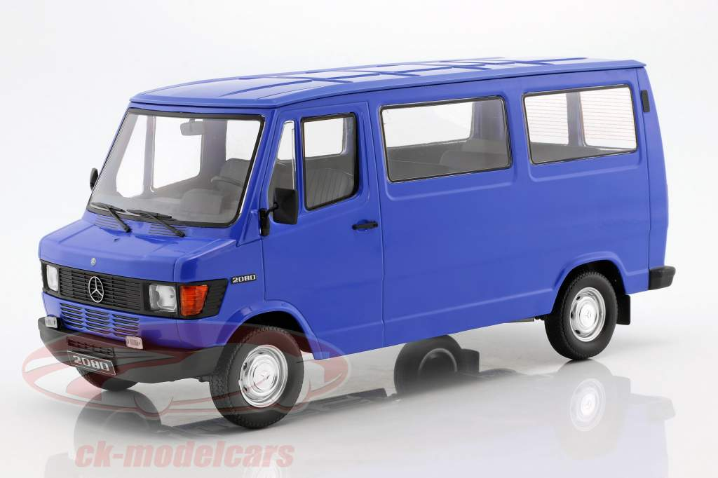 Mercedes-Benz 208 D Bus année de construction 1988 bleu 1:18 KK-Scale