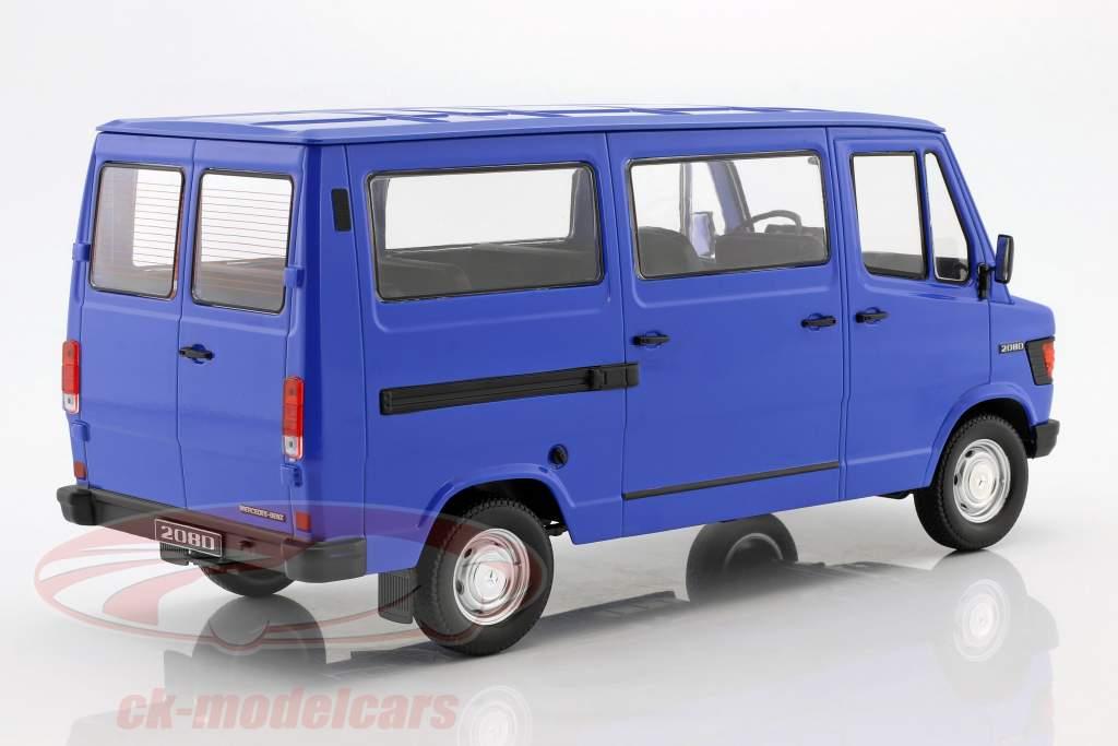 Mercedes-Benz 208 D Bus Bouwjaar 1988 blauw 1:18 KK-Scale