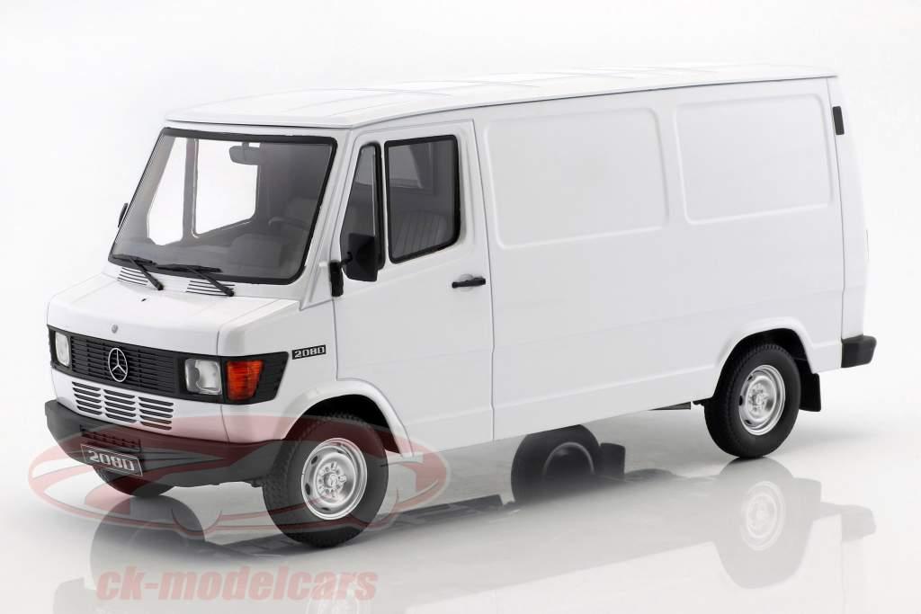 Mercedes-Benz 208 D van ano de construção 1988 branco 1:18 KK-Scale