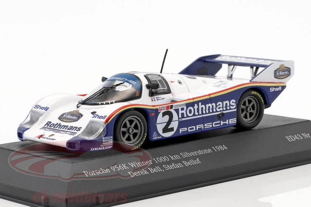 Porsche 956K #2 ganador 1000km Silverstone 1984 Bellof, Bell 1:43 CMR
