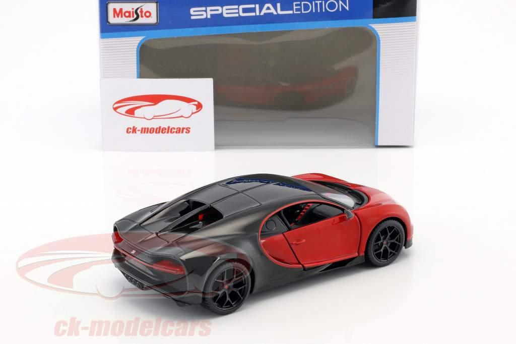 Bugatti Chiron Sport vermelho / preto 1:24 Maisto