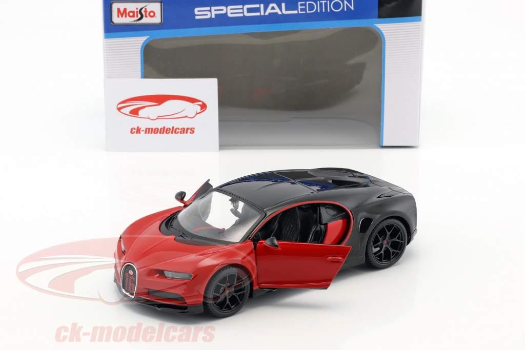 Bugatti Chiron Sport rouge / noir 1:24 Maisto