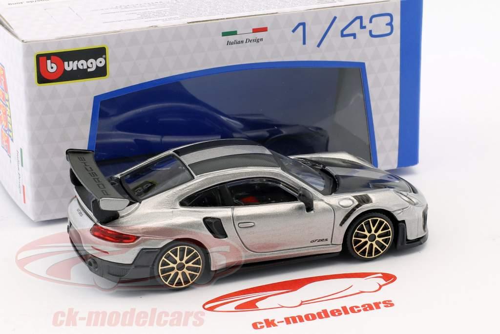 Porsche 911 (991 II) GT2 RS Street Fire zilver 1:43 Bburago