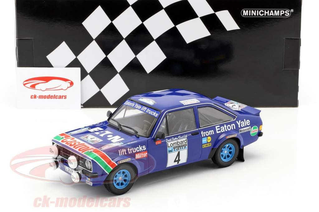 Ford Escort RS 1800 #4 vencedor RAC Rallye 1978 Mikkola, Hertz 1:18 Minichamps