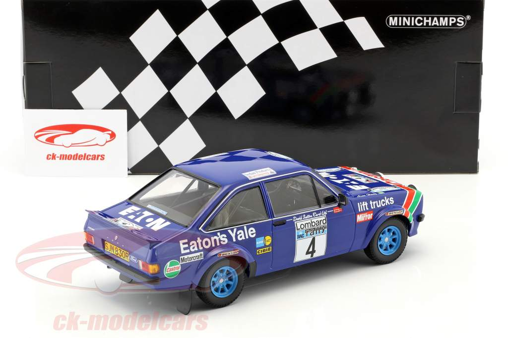 Ford Escort RS 1800 #4 ganador RAC Rallye 1978 Mikkola, Hertz 1:18 Minichamps