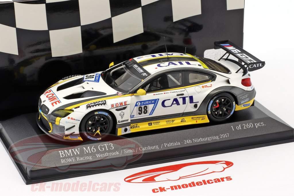 BMW M6 GT3 #98 2 24h Nürburgring 2017 Palttala, Catsburg, Sims, Westbrook 1:43 Minichamps