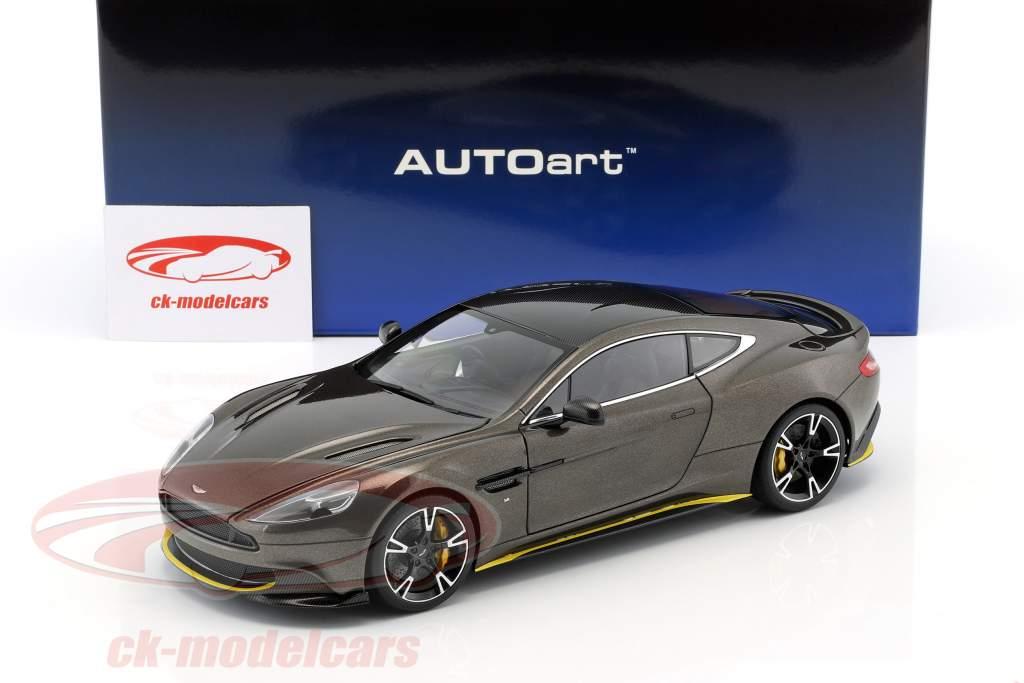 Aston Martin Vanquish S año de construcción 2017 kopi bronce / amarillo 1:18 AUTOart