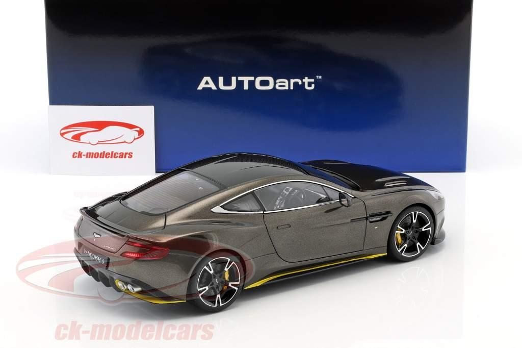 Aston Martin Vanquish S Opførselsår 2017 kopi bronze / gul 1:18 AUTOart