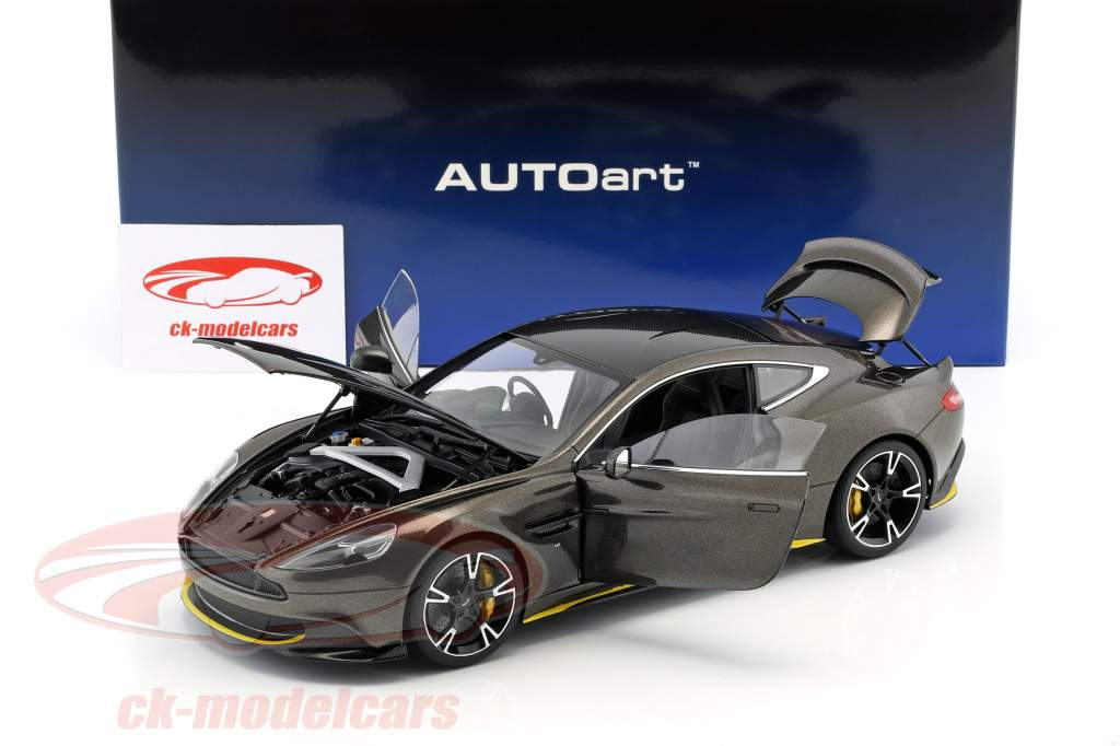 Aston Martin Vanquish S année de construction 2017 Kopi bronze / jaune 1:18 AUTOart