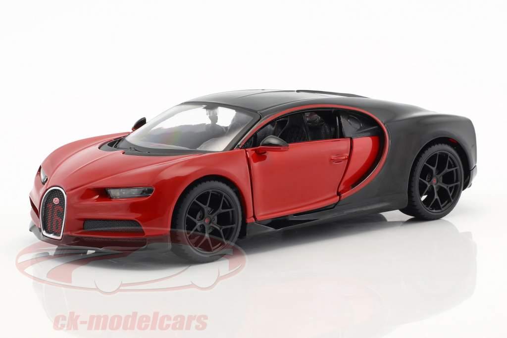 Bugatti Chiron Sport rojo / negro 1:24 Maisto