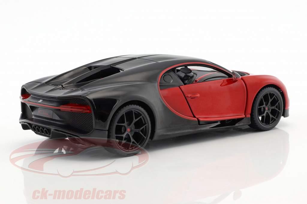 Bugatti Chiron Sport rood / zwart 1:24 Maisto