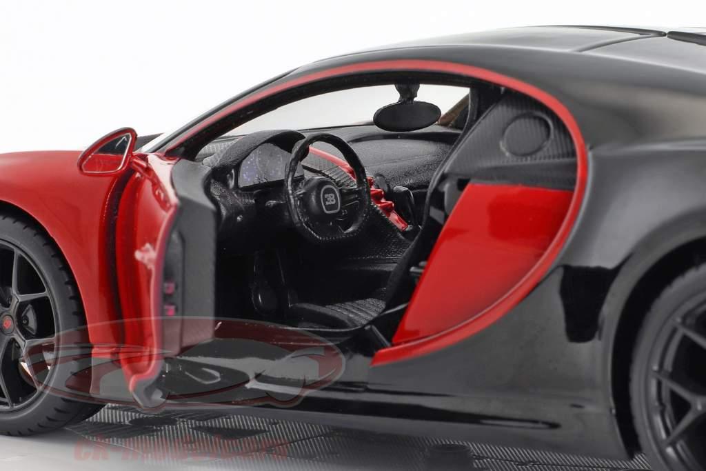 Bugatti Chiron Sport rød / sort 1:24 Maisto