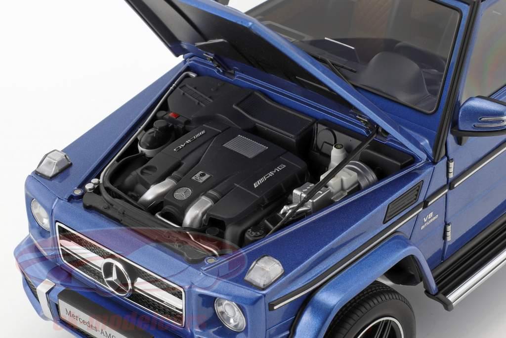 Mercedes-Benz AMG G 63 année de construction 2017 Ile Maurice bleu 1:18 AUTOart