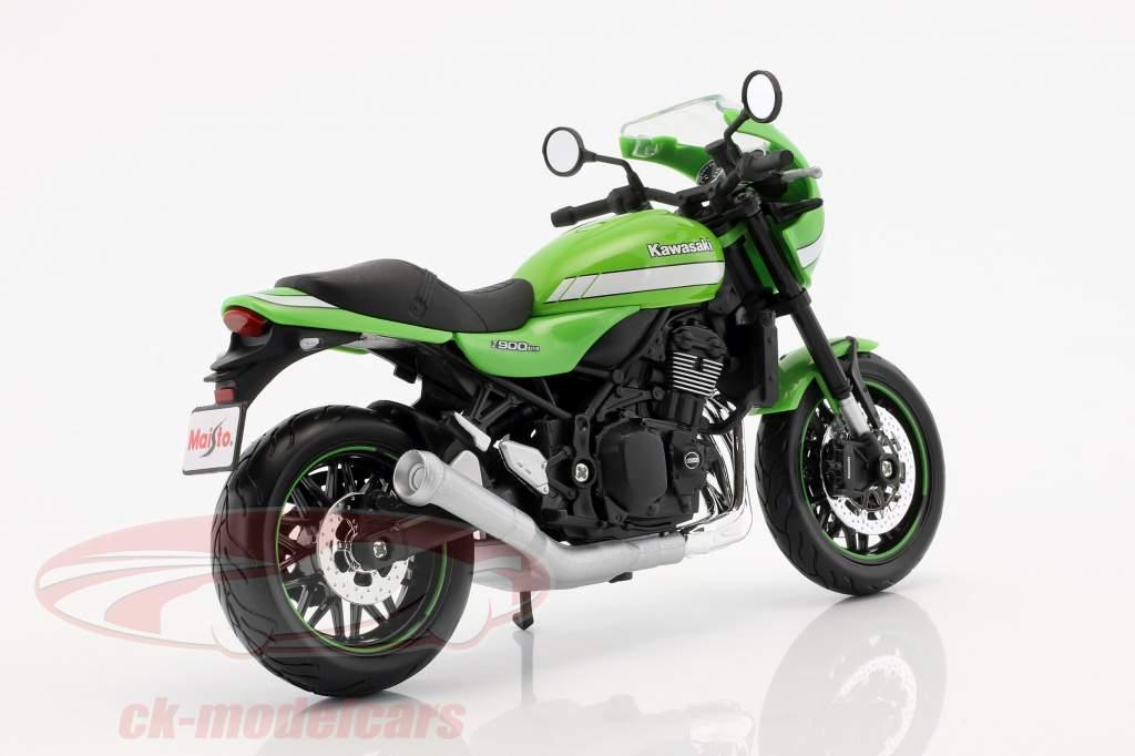 Kawasaki Z900 RS Cafe grøn 1:12 Maisto