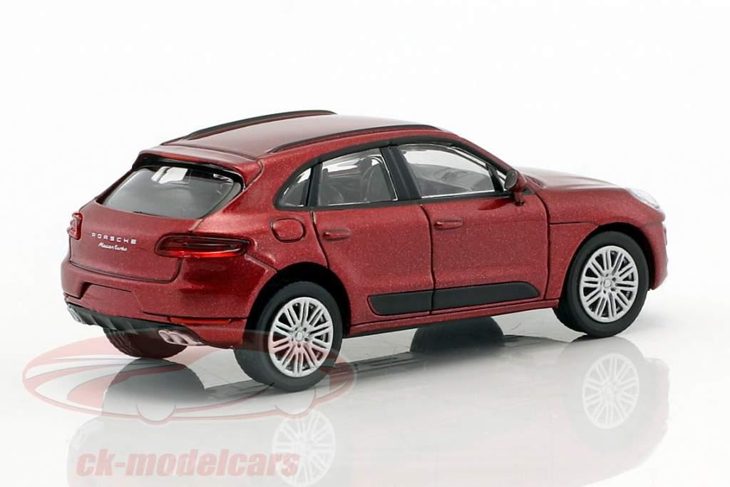 Porsche Macan Turbo Baujahr 2013 rot metallic 1:87 Minichamps