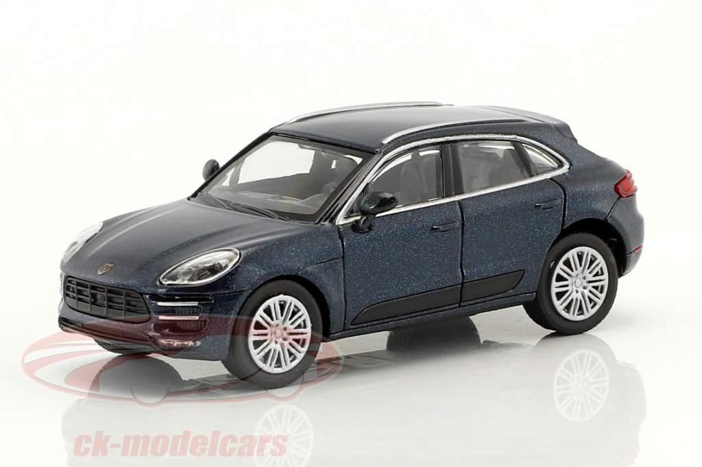 Porsche Macan Turbo ano de construção 2013 azul metálico 1:87 Minichamps