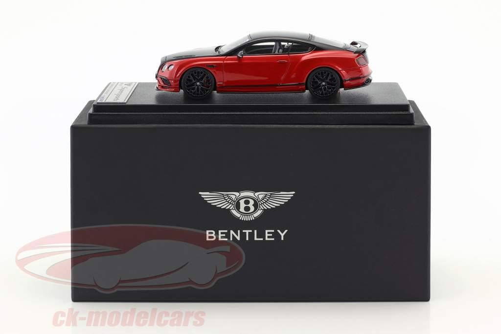 Bentley Continental GT Supersports ano de construção 2017 preto / vermelho metálico 1:43 LookSmart