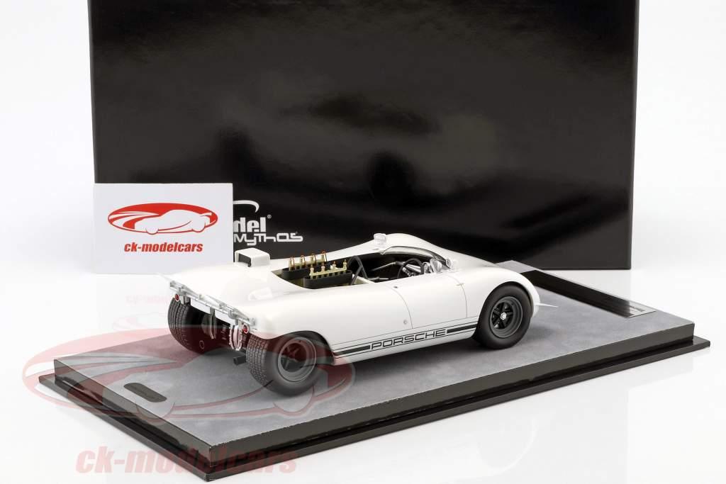 Porsche 909 Bergspyder prensa versión Hockenheim 1968 blanco 1:18 Tecnomodel