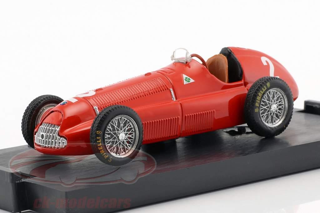 Giuseppe Farina Alfa Romeo 158 #2 vencedor Gran Bretagna e Europa GP fórmula 1 1950 1:43 Brumm