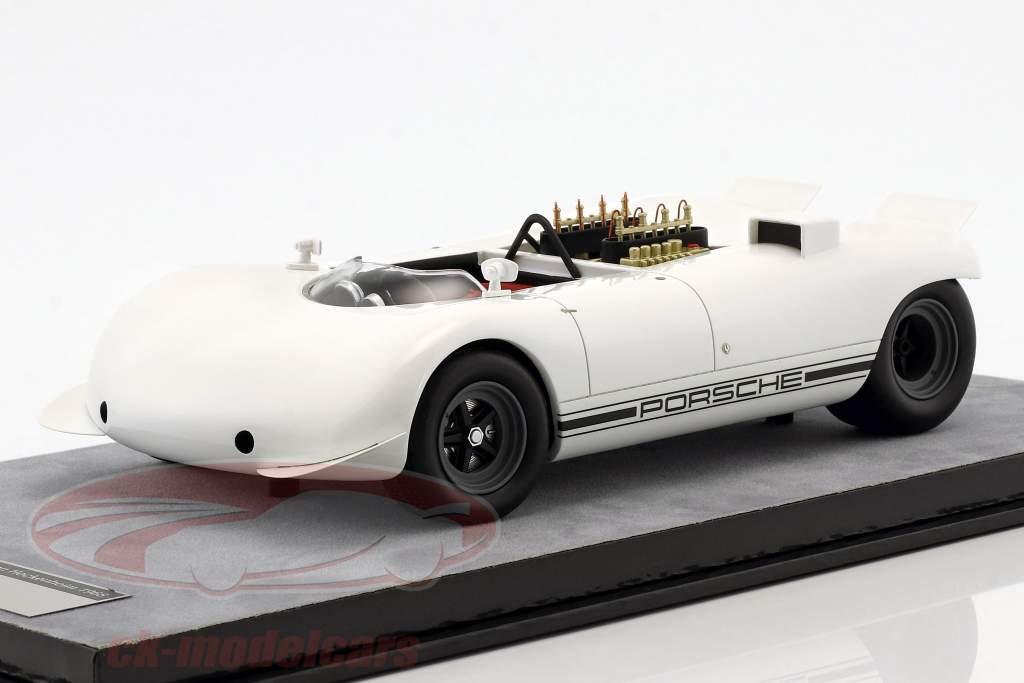 Porsche 909 Bergspyder tryk udgave Hockenheim 1968 hvid 1:18 Tecnomodel