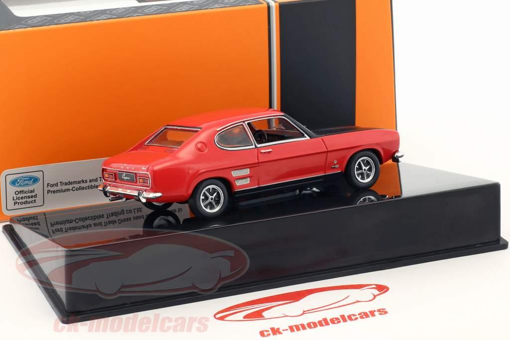 Ford Capri 1700 GT año de construcción 1970 rojo / negro 1:43 Ixo