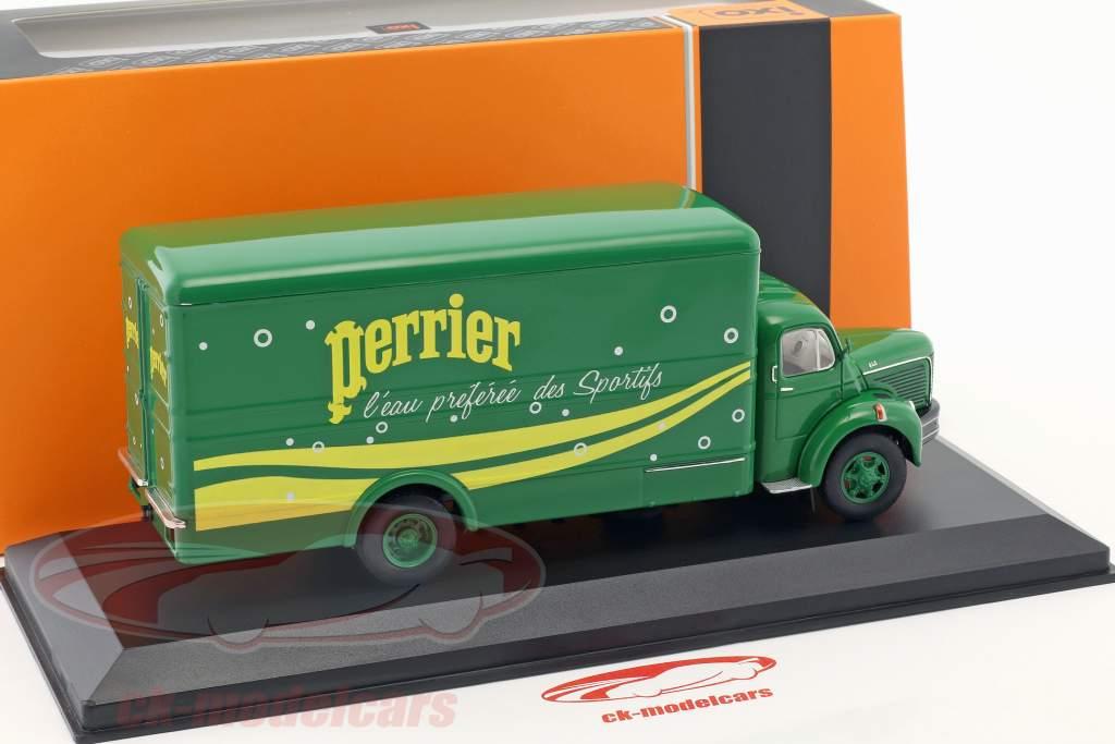 Berliet GLR 8M lastbil Perrier Opførselsår 1960 grøn / gul 1:43 Ixo