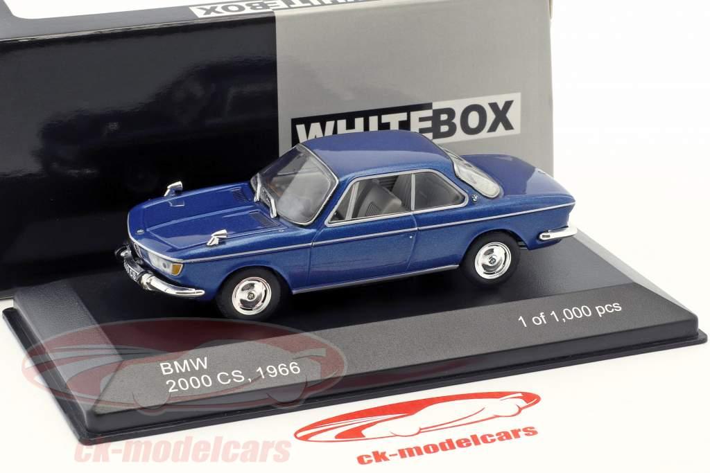 BMW 2000 CS ano de construção 1966 azul metálico 1:43 WhiteBox