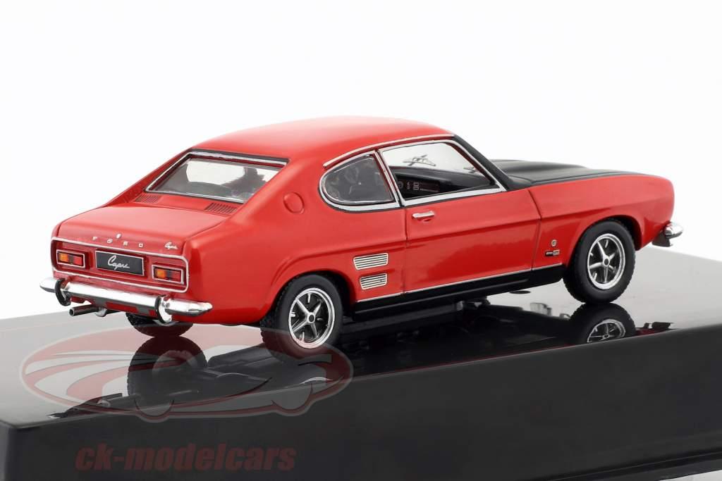 Ford Capri 1700 GT anno di costruzione 1970 rosso / nero 1:43 Ixo