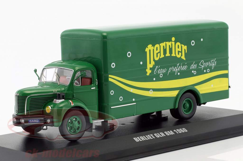 Berliet GLR 8M truck Perrier year 1960 green / yellow 1:43 Ixo