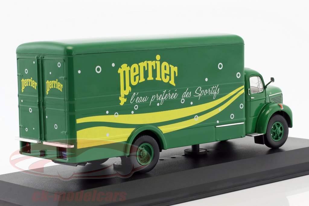 Berliet GLR 8M truck Perrier Bouwjaar 1960 groen / geel 1:43 Ixo