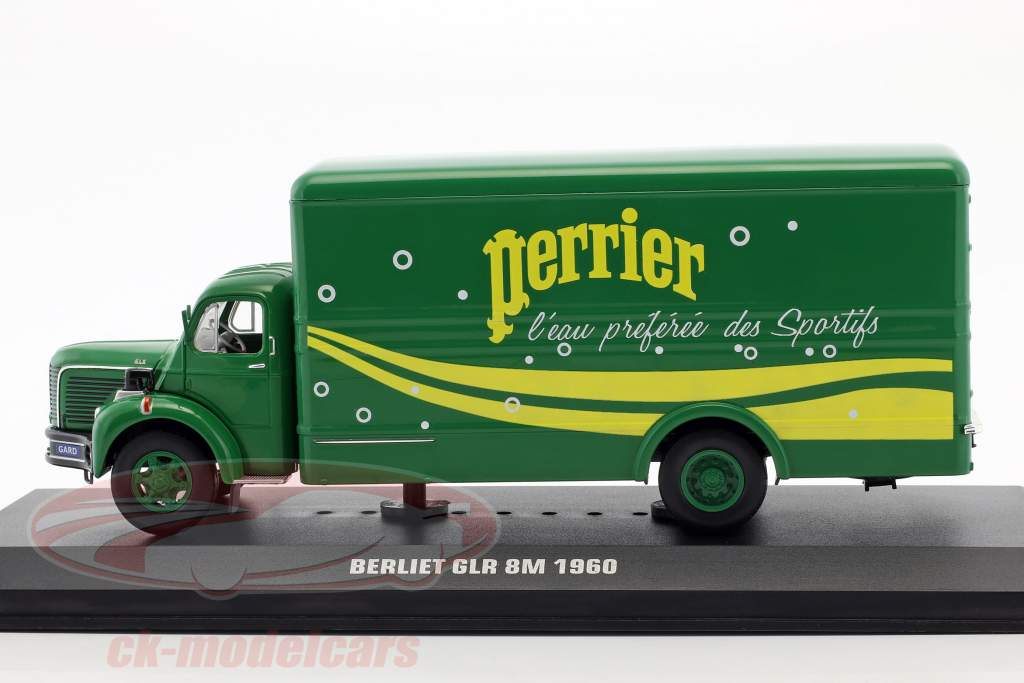 Berliet GLR 8M camion Perrier année de construction 1960 vert / jaune 1:43 Ixo