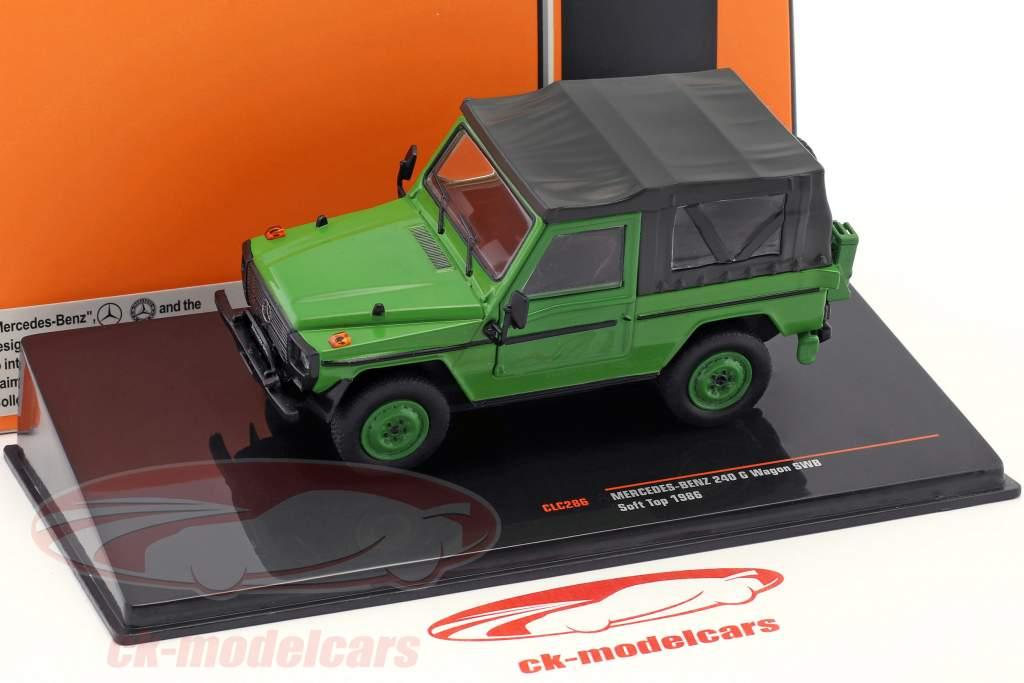 Mercedes-Benz 240 G-Class SWB Softtop année de construction 1986 vert 1:43 Ixo