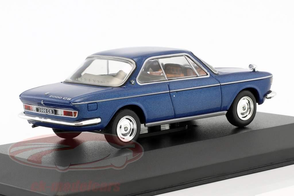 BMW 2000 CS año de construcción 1966 azul metálico 1:43 WhiteBox