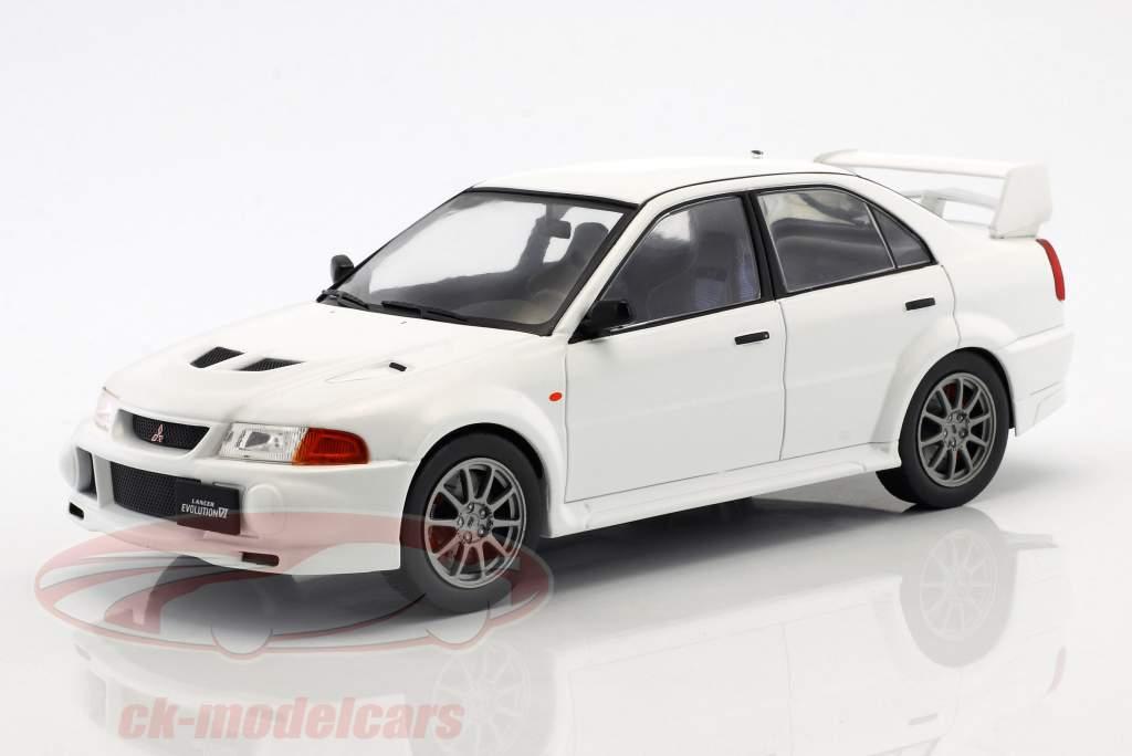 Mitsubishi Lancer RS Evolution VI ano de construção 1998 branco 1:18 Ixo