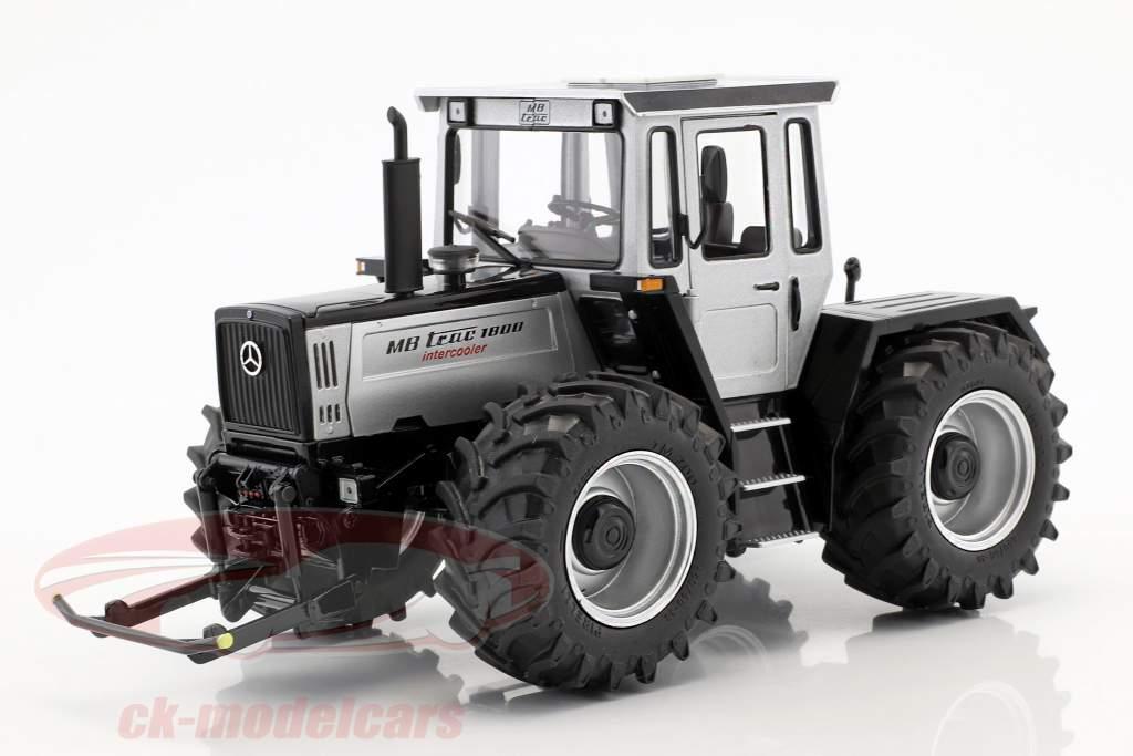 Mercedes-Benz Trac 1800 Intercooler traktor sølv / sort 1:32 Schuco