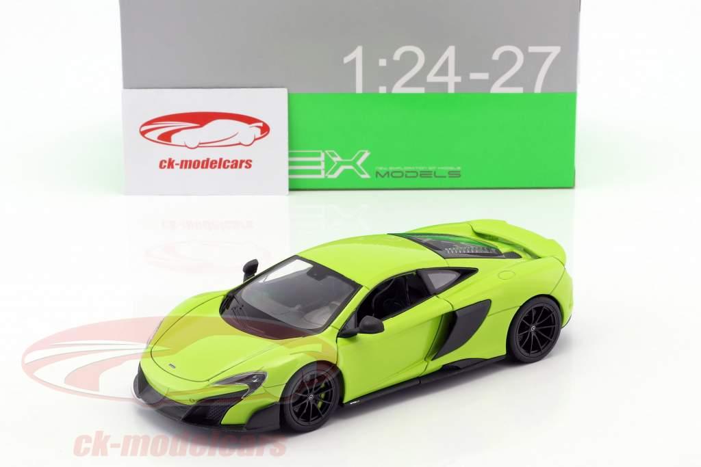 McLaren 675LT anno 2017 verde chiaro 1:24 Welly