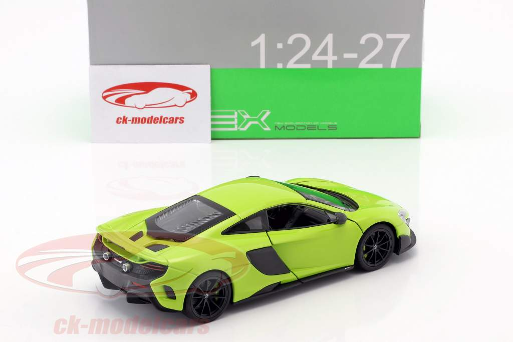 McLaren 675LT year 2017 light green 1:24 Welly