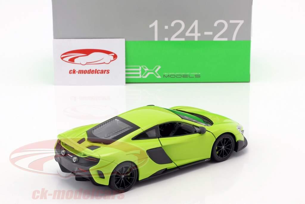 McLaren 675LT ano 2017 luz verde 1:24 Welly