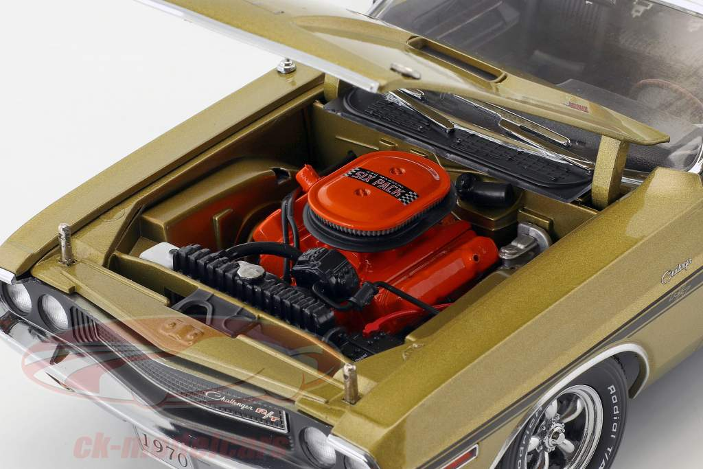 Dodge Challenger R/T convertible année de construction 1970 or métallique 1:18 Greenlight