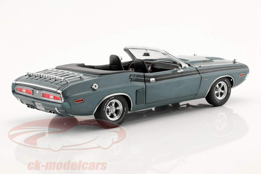 Dodge Challenger R/T convertible année de construction 1971 gris bleu métallique 1:18 Greenlight
