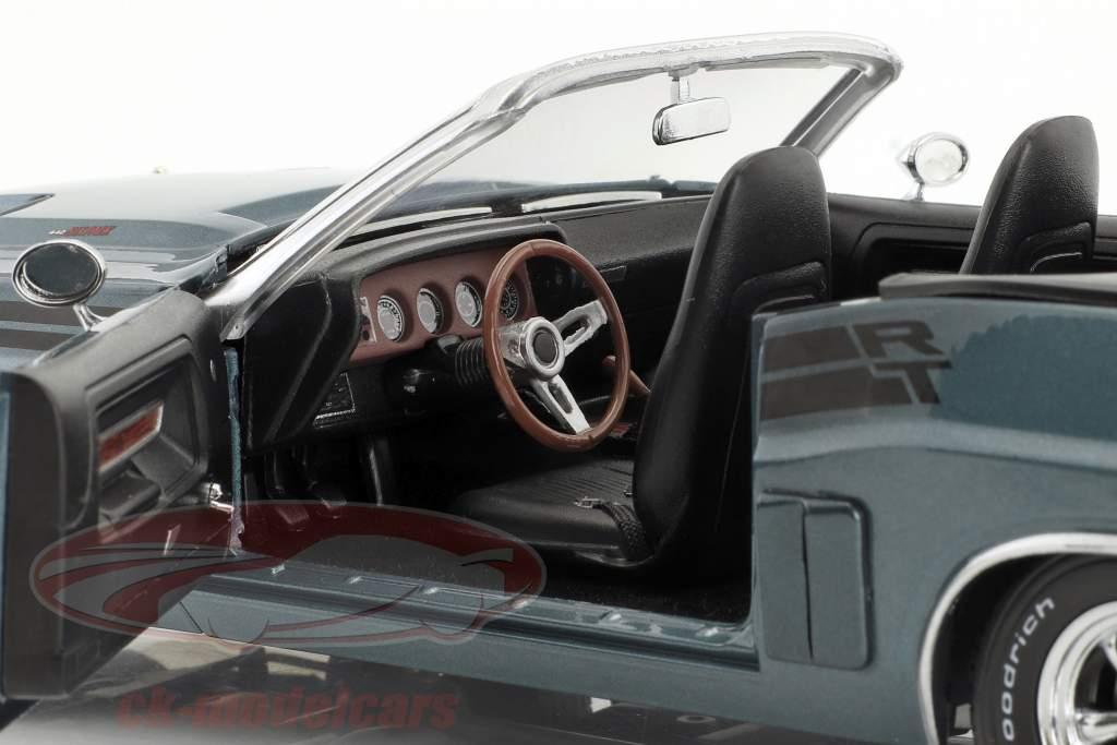 Dodge Challenger R/T Convertible Baujahr 1971 blaugrau metallic 1:18 Greenlight